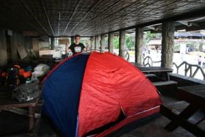 Zelten unter Beton ;)